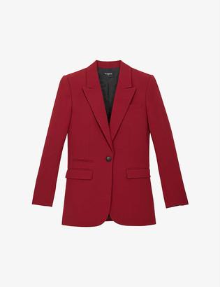 The Kooples Peaked-lapel crepe blazer
