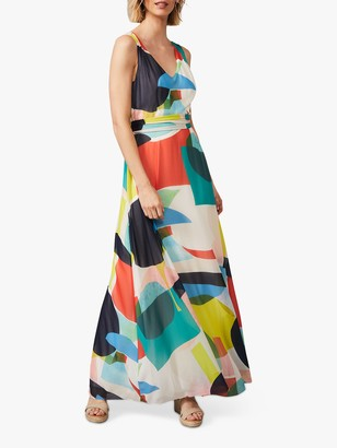 Phase Eight Ida Graphic Colour Block Print Maxi Dress, Multi