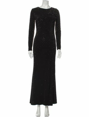 Jovani Scoop Neck Long Dress Black