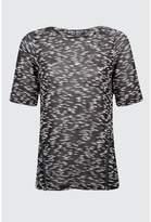 Select Fashion Fashion Womens Black Spacedye Zip Side Tee - size 10