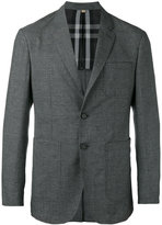 Burberry checked jacket - men - Cotton/Polyamide/Wool - 46