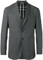 Burberry checked jacket - men - Cotton/Polyamide/Wool - 54