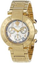 Versace Women's Q5C70D498 S070 New Reve Yellow Gold Ion-Plated Stainless Steel Chronograph Date Watch