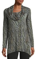 Allen Allen Cowl-Neck Long-Sleeve Tunic