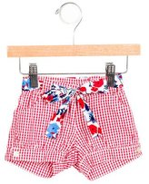 Oscar de la Renta Girls' Gingham Mini Shorts