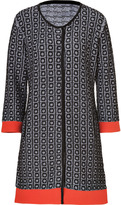 Black/Orange Broadway Jacquard Knit Coat