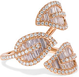 Anita Ko Tri-leaf 18-karat Rose Gold Diamond Ring