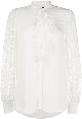 Pinko Lace Sleeve Shirt