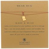 Dogeared Bear Hug Make A Wish Thread Necklace