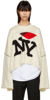 Raf Simons Off-White Oversized 'I Love NY' Sweater