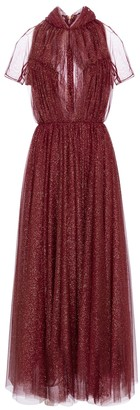 Emilia Wickstead Gabriel glitter tulle maxi dress
