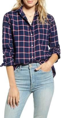 Grayson The Hero Windowpane Plaid Cotton Flannel Shirt