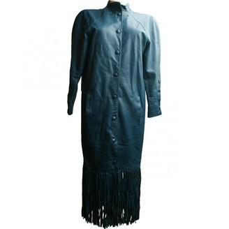 Christian Dior Blue Leather Coats