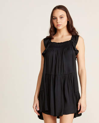 Free People Want Your Love Ruffle Smock Dress