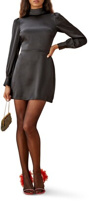 Reformation Kim Long Sleeve Silk Dress