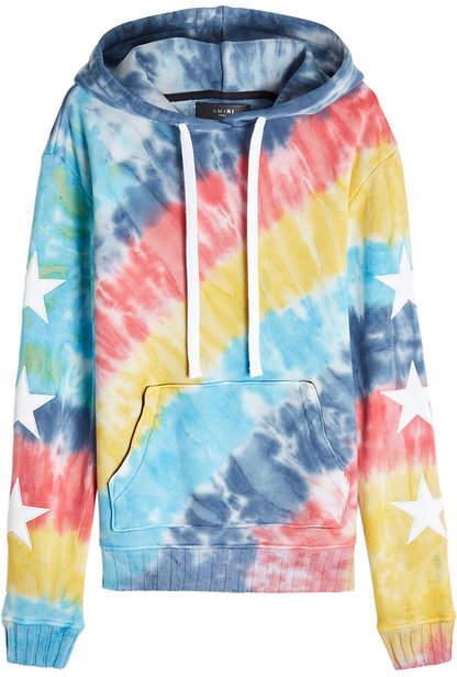 Amiri Rainbow Star Printed Cotton Hoody