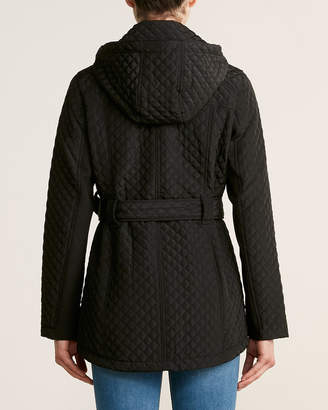 MICHAEL Michael Kors Belted Full-Zip Quilted Jacket