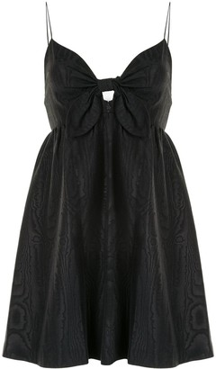 Alice + Olivia Melvina tie front mini dress