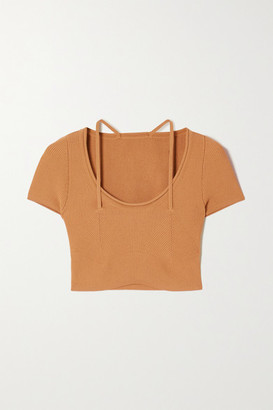 Jacquemus Cutout Ribbed-knit Top