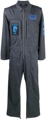 Diesel Badge-Applique Boiler Suit