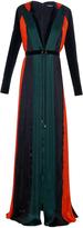 Balmain Pleated silk-chiffon gown
