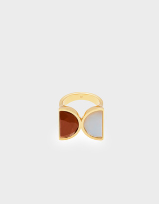 Charles & Keith Opal Brass Ring