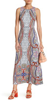 London Times Sleeveless Print Shift Maxi Dress (Petite)