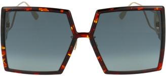 Christian Dior Square Frame Oversize Sunglasses