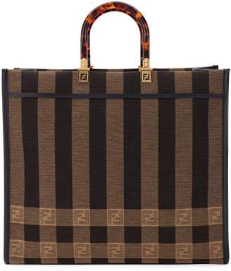 Fendi Pequin Shopper Tote Bag