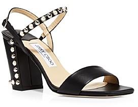 Jimmy Choo Women's Aadra 85 High Heel Stud & Imitation Pearl Embellished Sandals