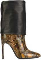 Pollini snakeskin effect boots - women - Calf Leather/Leather - 36