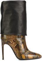 Pollini snakeskin effect boots