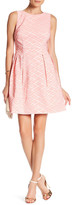 Donna Ricco Pleated Fit-and-Flare Dress