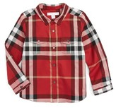 Burberry Toddler Boy's Trenta Plaid Woven Shirt