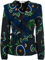 Tory Burch floral print wrap blouse - women - Silk/Polyester - 4