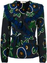 Tory Burch floral print wrap blouse