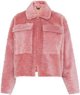 Whistles Dusty Zip Front Shearling