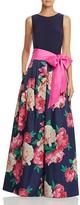 Eliza J Floral-Skirt Gown