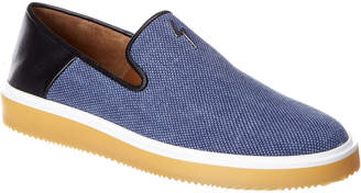 Giuseppe Zanotti Offman Flash Leather-Trim Sneaker