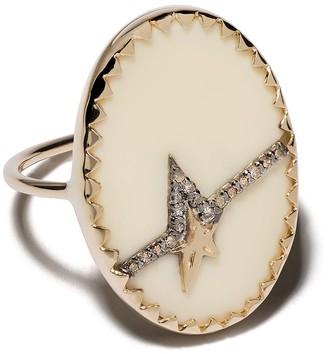 Pascale Monvoisin 9kt yellow gold diamond Varda N 3 ring
