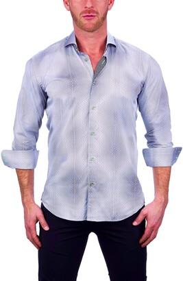 Maceoo Einstein Dior White Button-Up Shirt
