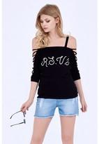 Select Fashion Fashion Rsvp Lattice Shoulder Top Boleros - size 6