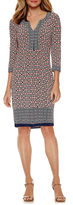 Liz Claiborne 3/4 Sleeve Shift Dress