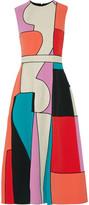 Roksanda Ossington canvas-paneled color-block cady midi dress