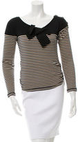 Sonia Rykiel Striped Long Sleeve Top