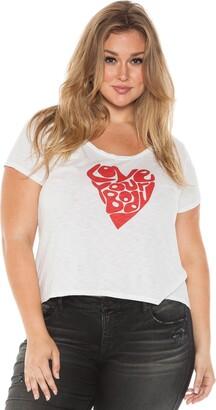 SLINK Jeans Women's Plus Size Beauty T-Shirt