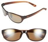Maui Jim Women's 'Pipiwai Trail' 56Mm Polarized Sunglasses - Gloss Black