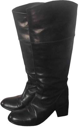 Sartore Black Leather Boots