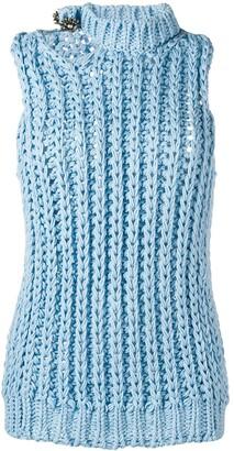 Calvin Klein Sleeveless Knitted Top