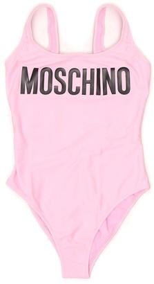Moschino Logo Print Swimsuit